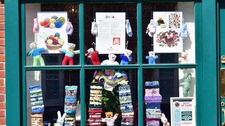 A window display at Rosedale Funeral Home in Upper Olland Street, Bungay, during lockdown. PHOTO: An