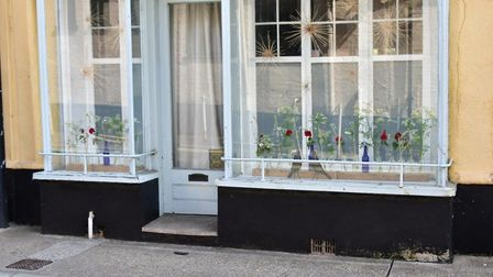 A display at a home in Broad Street, Bungay, during lockdown. PHOTO: Andrew Atterwill