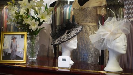 The shop sells hand made fascinators and hats, and rents dresses, shoes, and more for any special oc