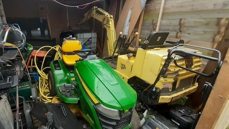 A digger worth £5,000 which was stolen from a property in Mutford last month has been recovered by p