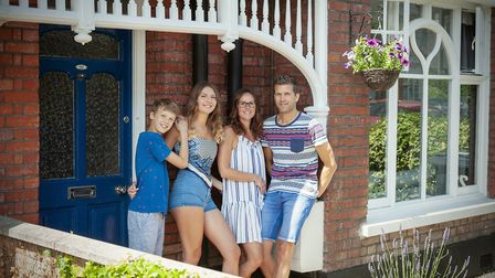 The Moore family taking part in Helen Nicholson's On My Doorstep project for Waveney Foodbank. PHOTO