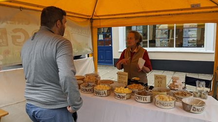 Ailsa's fudge stall at the pop-up food and drink market in Beccles. Picture: Beccles Food & Drink Fe
