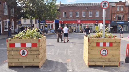 Beccles Town Council have approved plans to move the plant boxes in New Market. PHOTO: Sonya Duncan