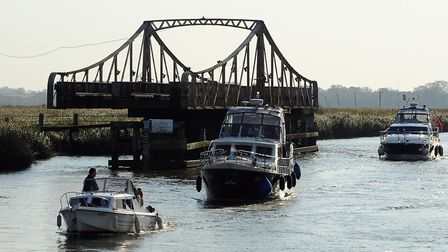 Somerleyton Bridge is unable to open due to a technical fault. Picture: Denise Bradley