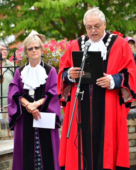 Bungay remembers 75 years of V.J. Day. Picture: Andrew Atterwill