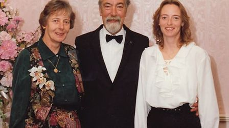 Lawrence Cannard with wife Jill and step-daughter Alison. PHOTO: Courtesy of Justine Frood