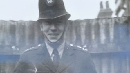 Lawrence Cannard as a PC with the Metropolitan Police. PHOTO: Courtesy of Justine Frood