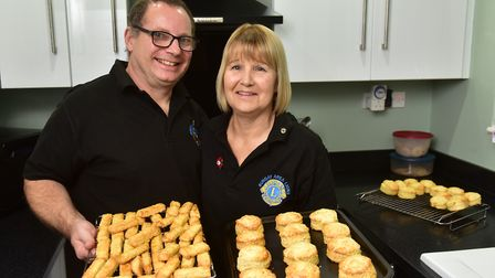 Bungay Lions held a savoury bake off event to raise money for the Falcon Meadow Community Trust. Kar