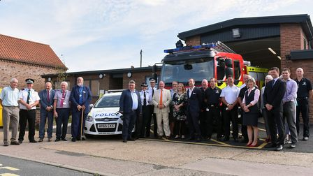 The opening of the joint police and fire station in Beccles. Picture: Jamie Honeywood