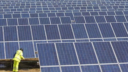Solar panels are proposed for a site at Tivetshall.