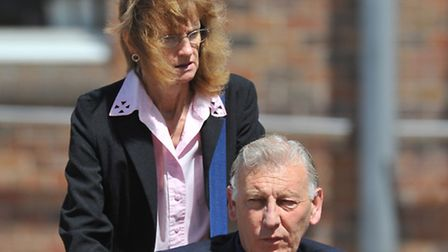 Nigel and Jennifer Crisp at Norwich Crown Court.PHOTO BY SIMON FINLAY