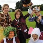 Children from Archbishop Sancroft School in Harleston dress up as characters from Roald Dahl books.