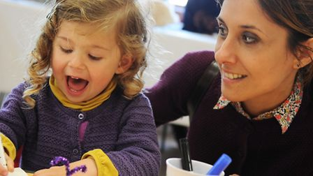 Puddleducks Playgroup in Mulbarton hold their spring fundraising Fayre.Clarice Costa and her mum Aud