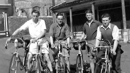 Diss Cycling Club 75th anniversary. Some of the first club members in 1939 including Eric Madgett, s