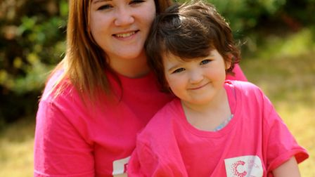 Leah Clark from Rickinhall who will be starting the Race For Life this weekend in Bury St Edmunds. W