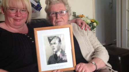 Kathy Lister (right) and her daughter Julia with a photo of William Lister