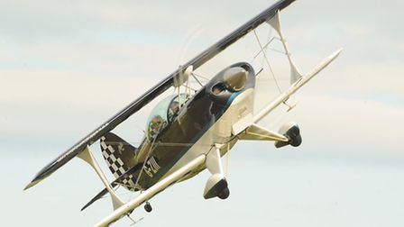 The Wildcats Aerobatics team preparing for their display at the Old Buckenham Airshow. Picture: Deni