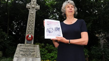 Writer Ruth Walton has researched and written a book about the men named on the war memorial in a h
