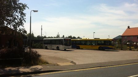 The site of the current Diss bus station in Park Road