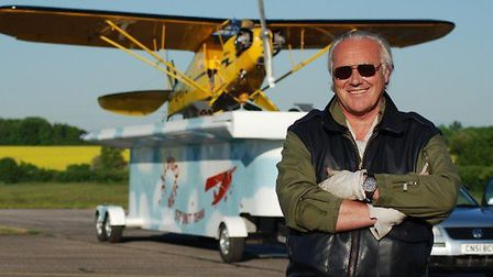 Record breaking attempt plans - Brendan O'Brien with his aircraft and the truck.