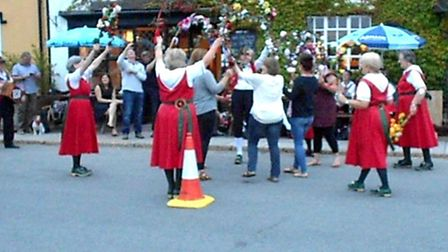 The Hoxon Hundred performs in Diss.