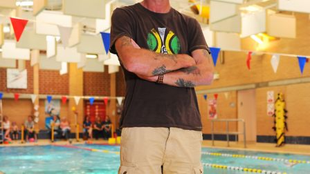 KennethTovell at Stradbroke Leisure centre where he has been training for the Outlaw Triathlon after