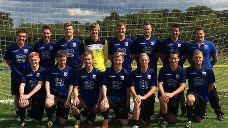 Mulbarton Wanderers, newly promoted to Division One of the Almary Green Anglian Combination, line-up