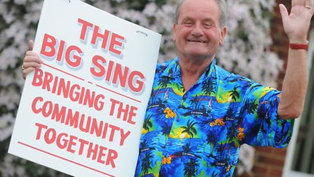 Gerry Hosking launches the 10th annual Big Sing in Diss.