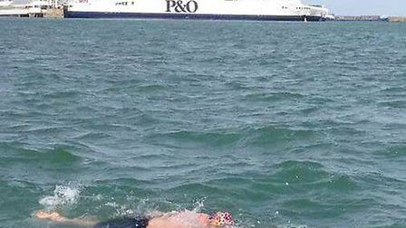 Riley Cork, swimming the English Channel to raise money for Nelson's Journeyl