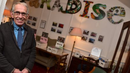 Artwork spelling PARADISE has been installed at The Swan Hotel in Harleston by owner Robin Twigge.