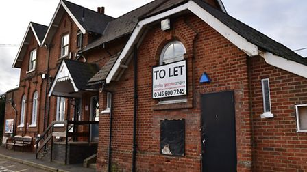 Diss station building including the former taxi office now up for rent.