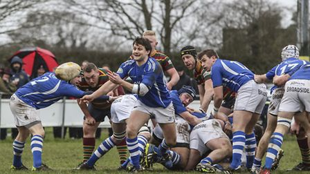 Diss on the ball during Saturdays game in Norwich. Photo: Andy Micklethwaite
