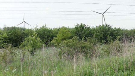 A photomontage of the proposed turbines
