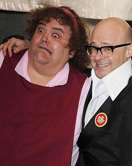 Harry Hill and Heather, aka actor Steve Benham. Hill says it was the right time to leave TV Burp