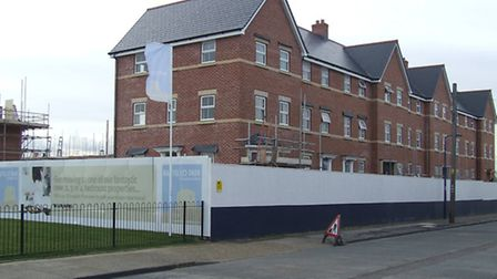 New homes almost ready in Orford Road on the edge of Felixstowe's south seafront site.