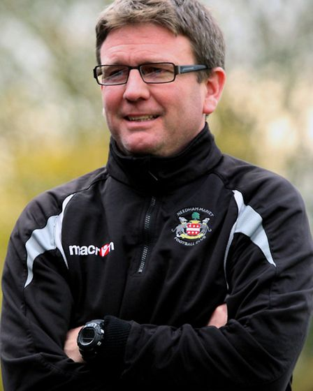 Current manager Danny Laws, who will become first-team coach at Needham Market