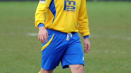 AFC Sudbury assistant manager and midfielder Michael Shinn, who returned to action on Saturday after