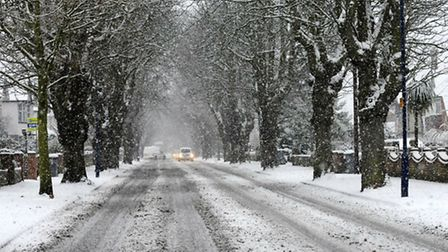 Early morning drivers warned over icy conditions as snow hits region.
