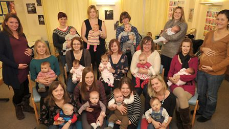 Eighteen members of the midwifery team at Ipswich hospital have had babies in the last few months