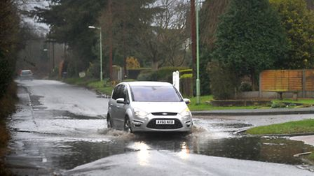 Roads could flood if the snow suddenly melts over the weekend