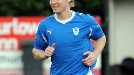 Brantham Athletic striker Ben Deacon, who could be a key player for the Suffolk side against Whitley
