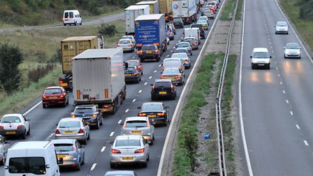 The accident happened between the Marks Tey and Kelvedon junctions on the A12 in Essex