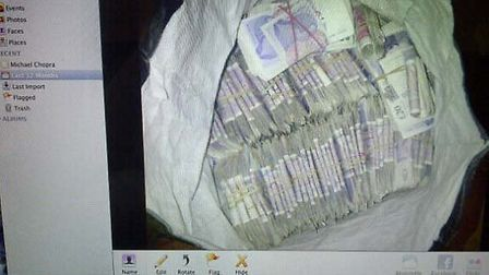 Michael Chopra posted this picture of a bag full of money on his Twitter account earlier today. He h