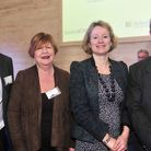 Suffolk Food & Agriculture Conference at Trinity Park, Ipswich John Taylor, Cllr Judy Terry, Vicky