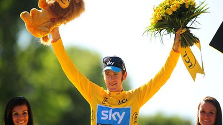 Bradley Wiggins, winner of the 2012 Tour De France. The 2014 tour will return to the UK, with a stag
