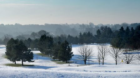 Winter scenes at Seckford Golf Course.