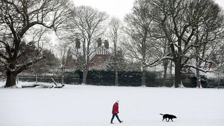 People are warned not to walk on icy ponds in Ipswich parks.