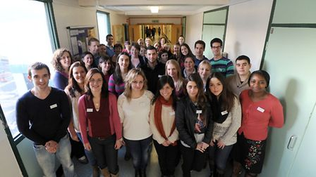 Newly qualified nurses and recently arrived Portuguese nurses are pictured at West Suffolk Hospital