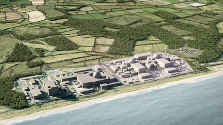 An artist's impression of the proposed Sizewell C