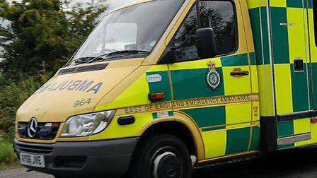 Man in 60s trapped in car following single-vehicle incident.